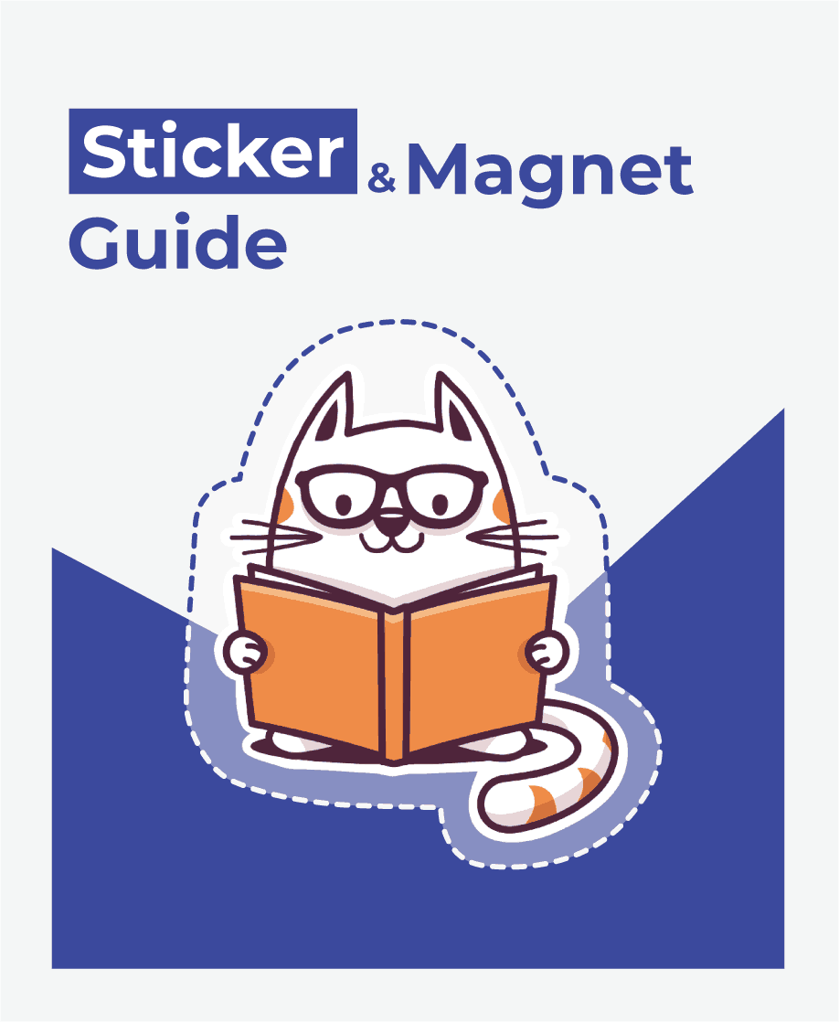 Print on demand sticker & magnet guide