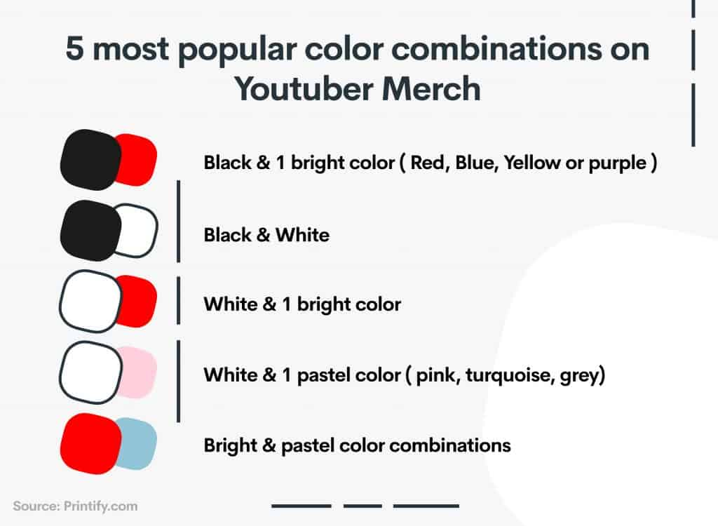 Youtuber Merch Common Colors