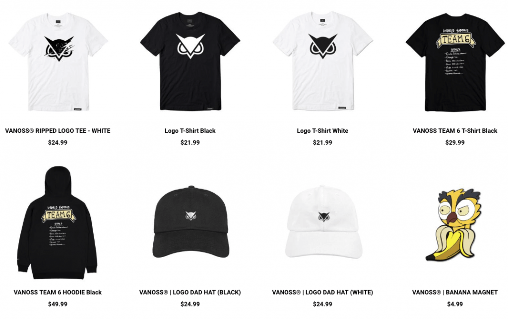 Youtuber Merch VanossGaming