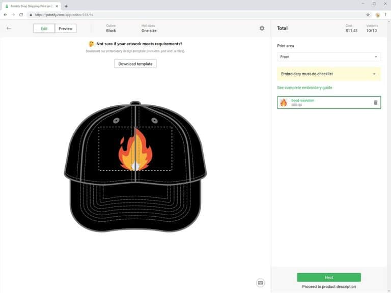 mockup generator embroidered hats