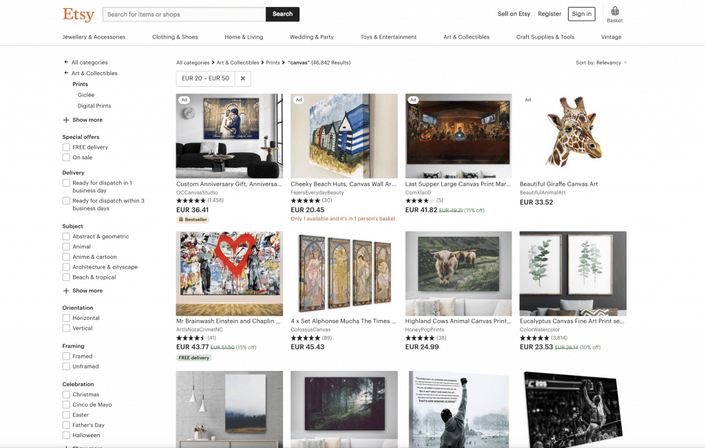 how to sell art online on etsy