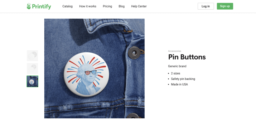 How to sell Pin buttons through print on demand 12