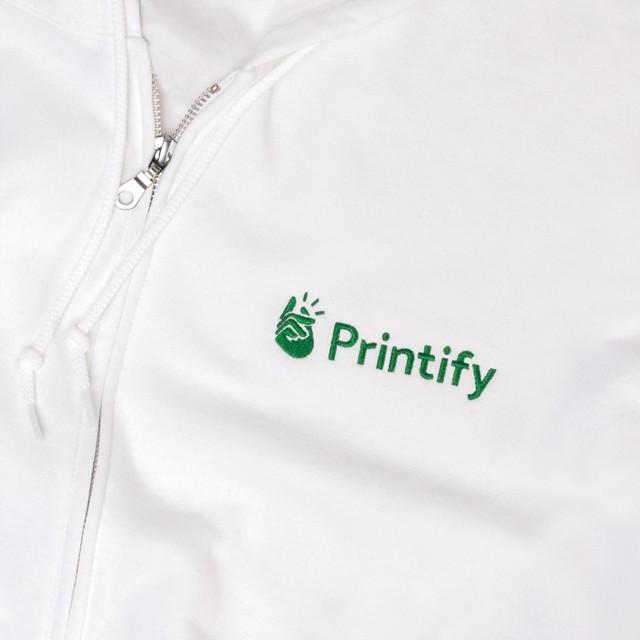 Gildan 18600 hoodie embroidered
