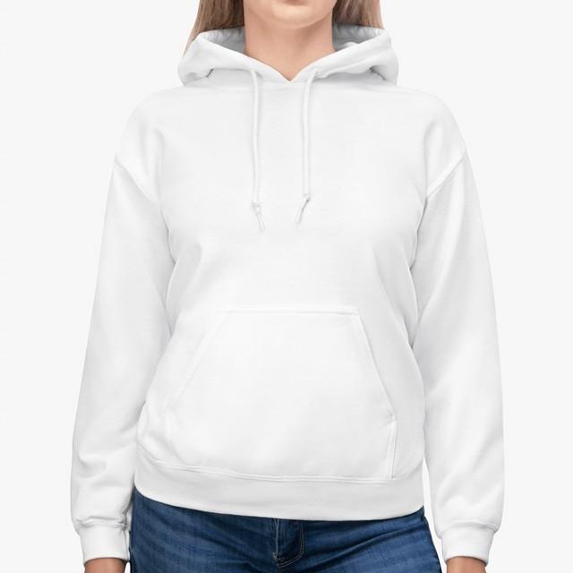 gildan 18500 unisex hoodie white