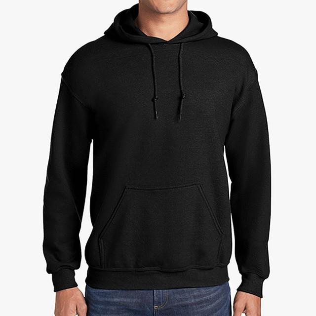 gildan 18500 unisex hoodie black