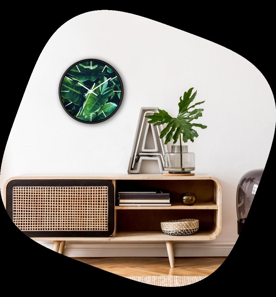 custom wall clock flower design