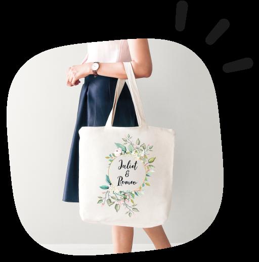 tote bag wedding style