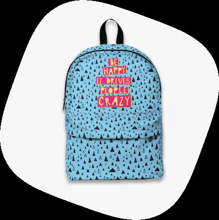 unisex custom backpack