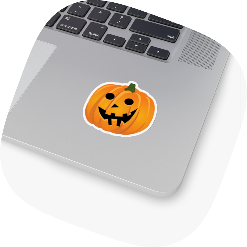 kiss cut sticker design pumpkin