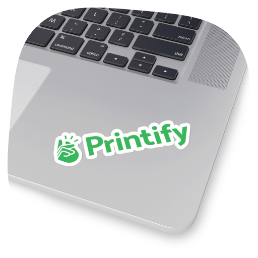 printify kiss cut sticker white border