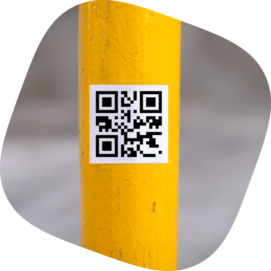 qr code custom stickers