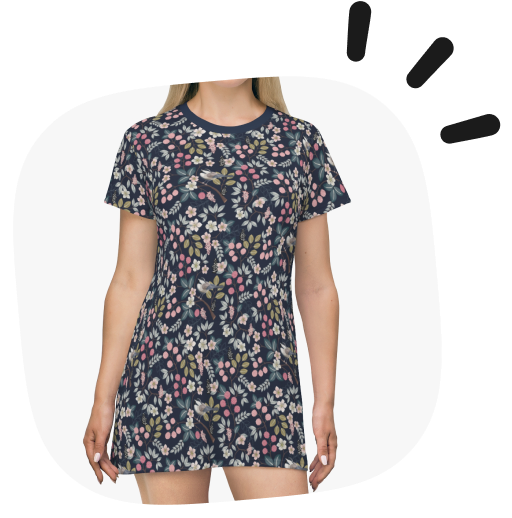 spring products - aop t shirt dress