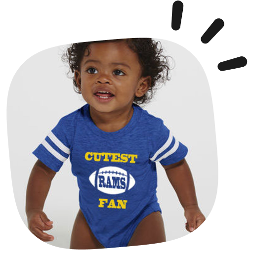 custom sports baby clothes