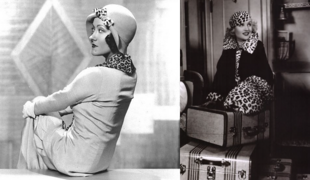 leopard print fashion 1920s and 30s