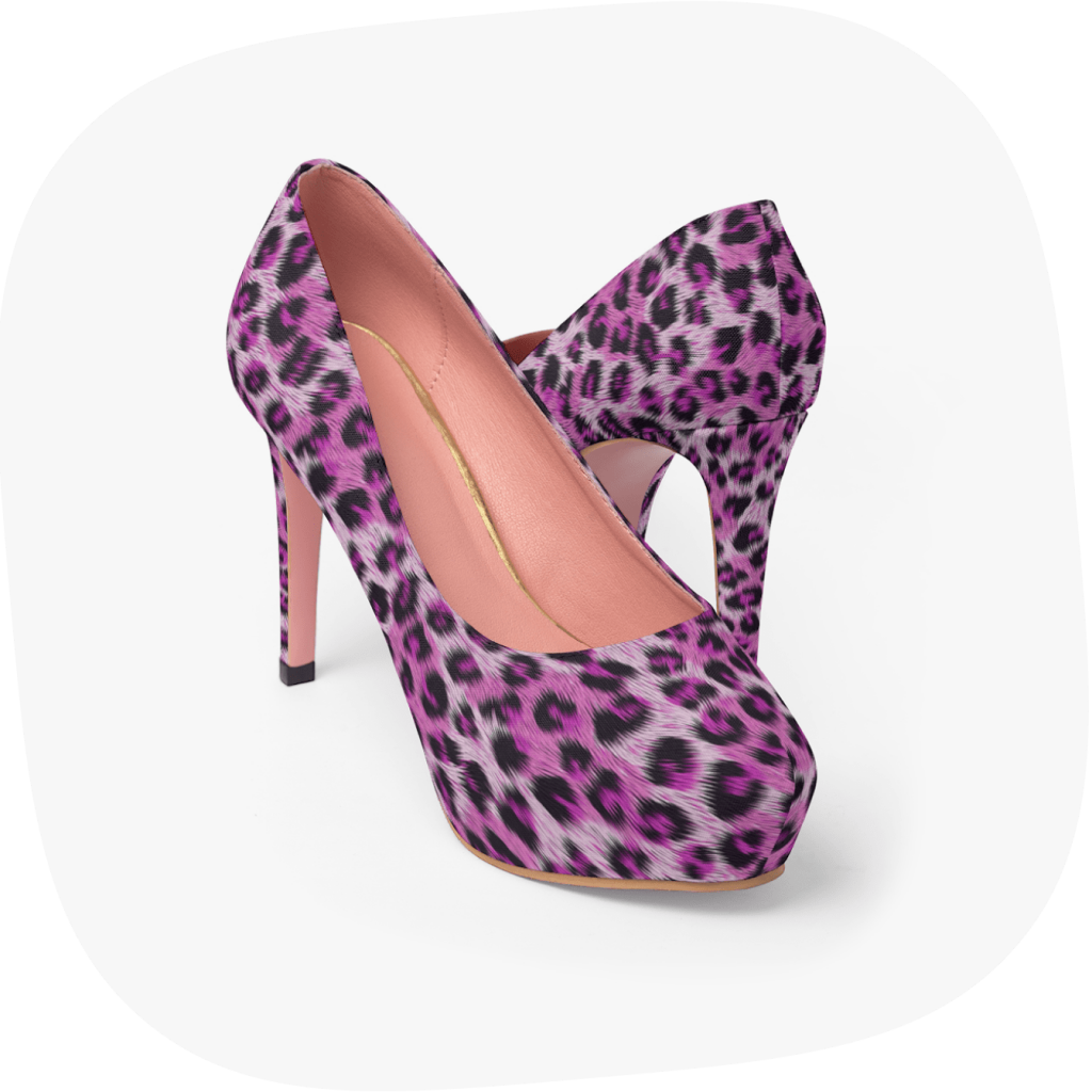 leopard print high shoes