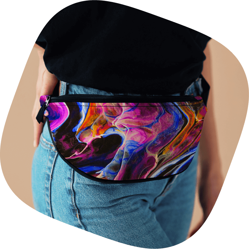 custom lifestyle fanny pack