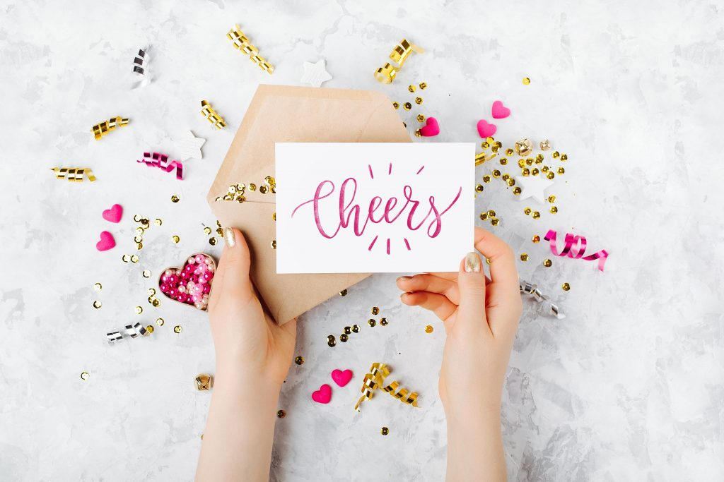 custom greeting card cheers