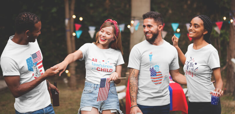 4th of July T-Shirt Design Sharing