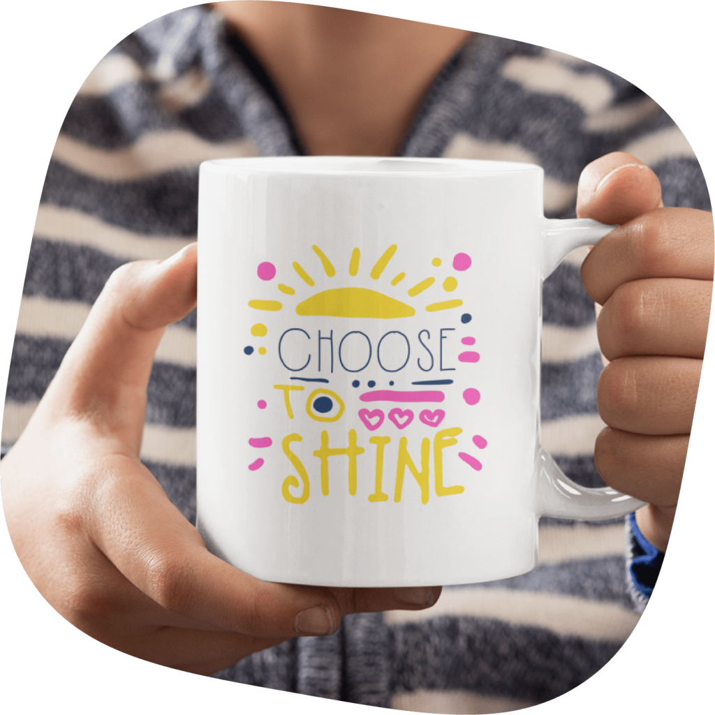 custom mugs with inspirational design