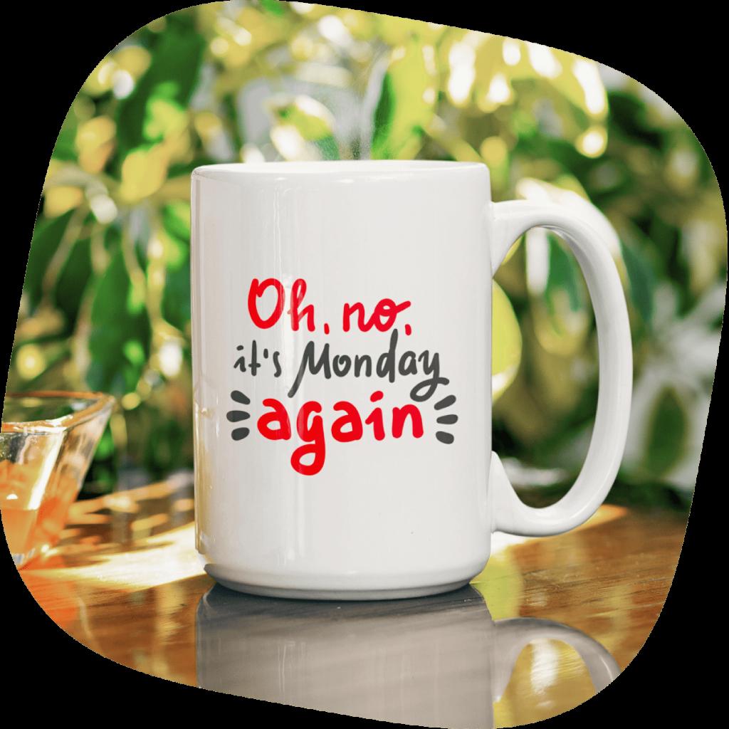 not monday person customized mug