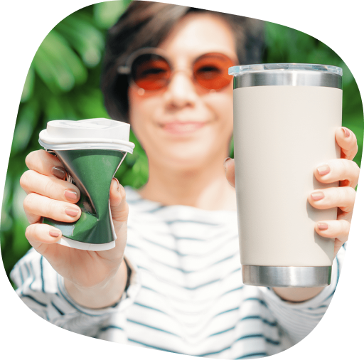 eco friendlu stainless steel mug vs plastic cup