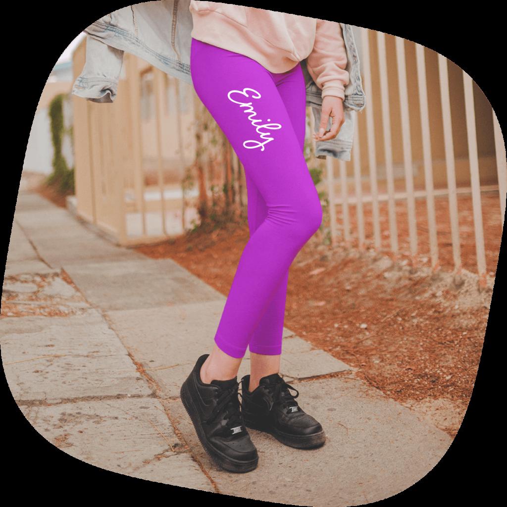 custom leggings with text
