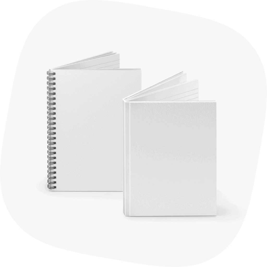 custom notebooks spiral vs hardcover
