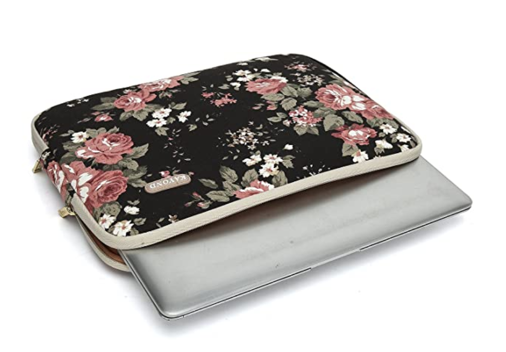 design your own floral laptop sleeve
