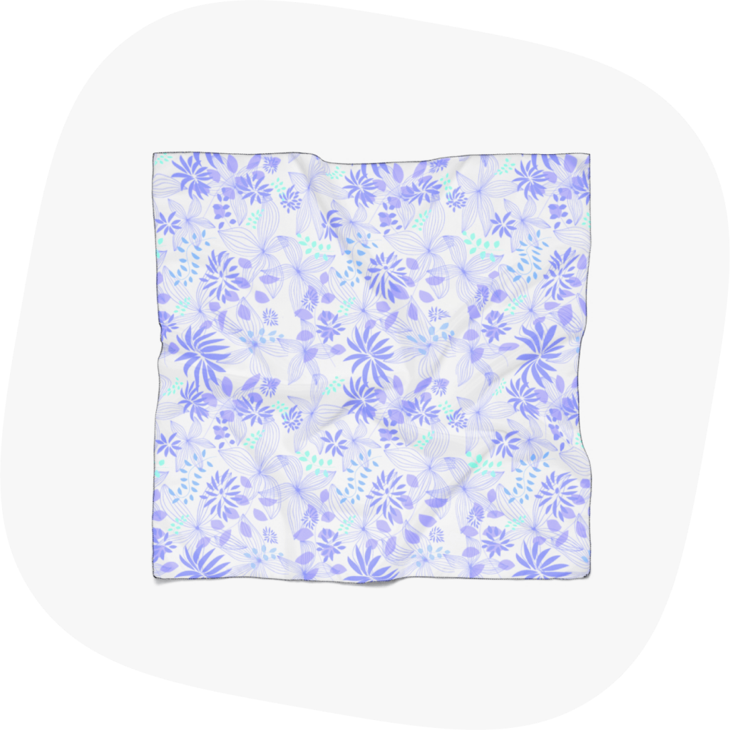 custom scarf with floral design