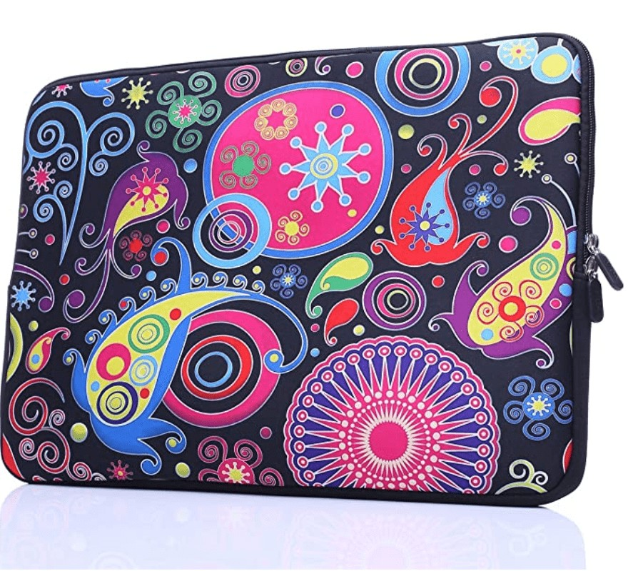 colorful design laptop sleeve