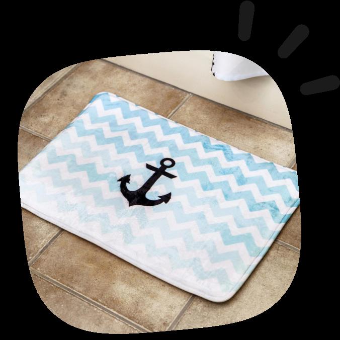 custom bath mats
