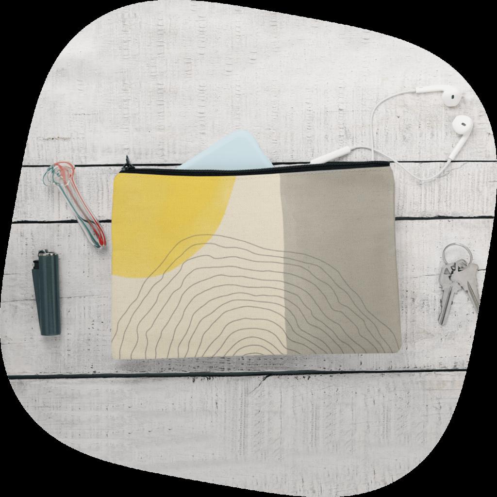 custom organizing pouch