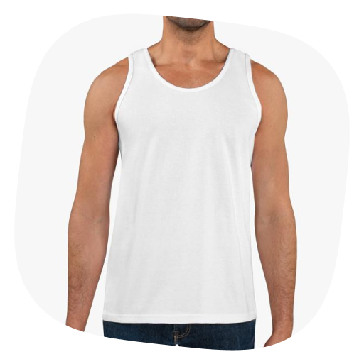 custom men's tank top