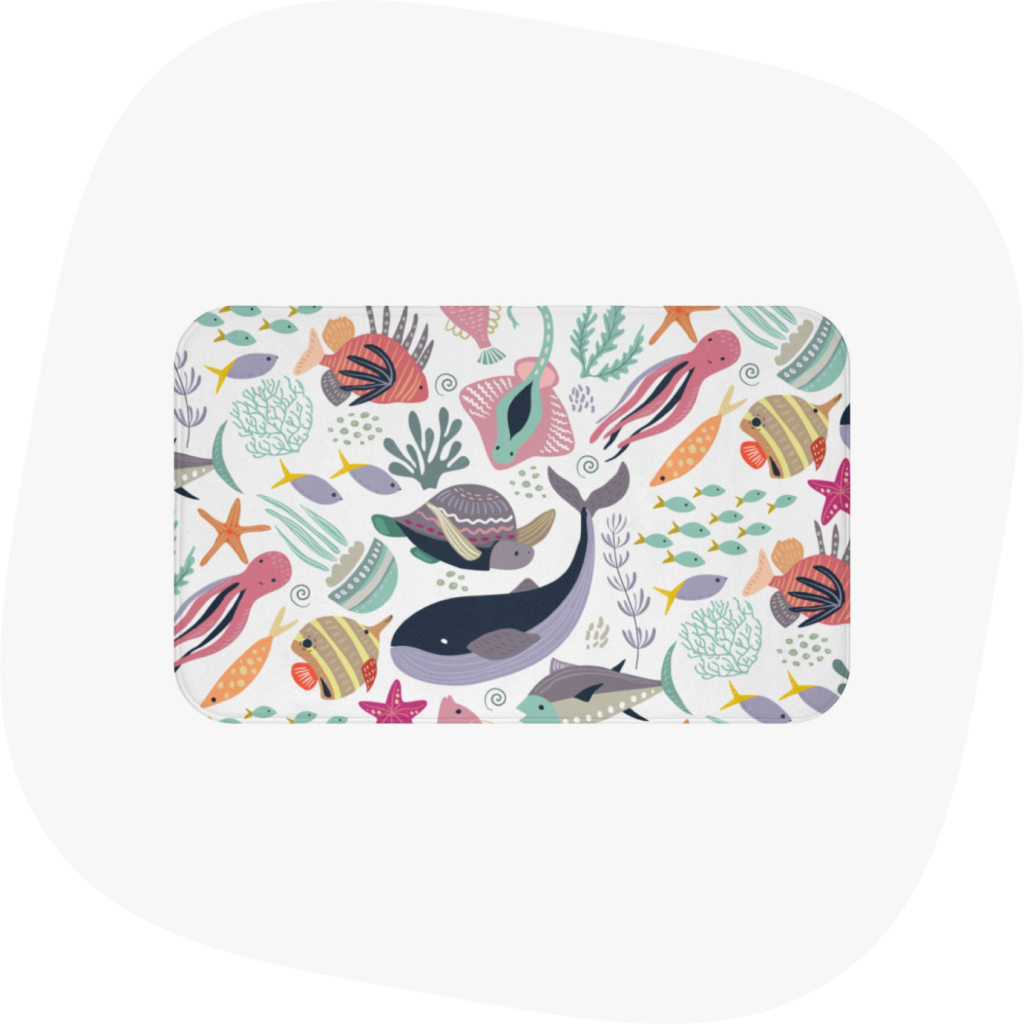 nauthical theme custom bath mat