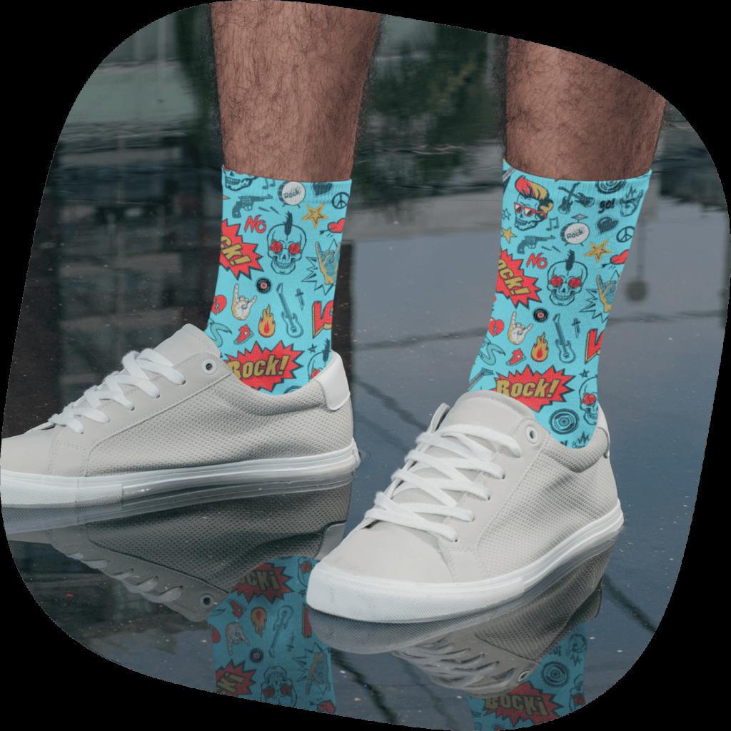 custom band merch socks