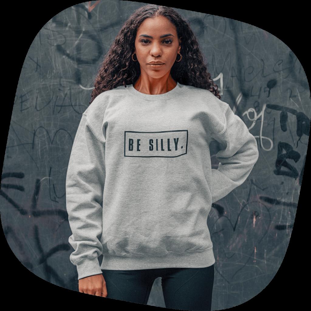 custom sweatshirts minimalist