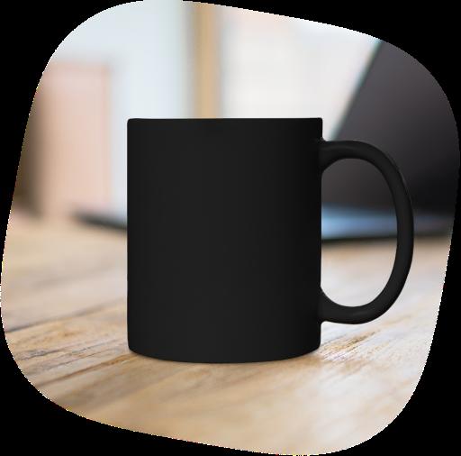 black coffee mug 11 oz