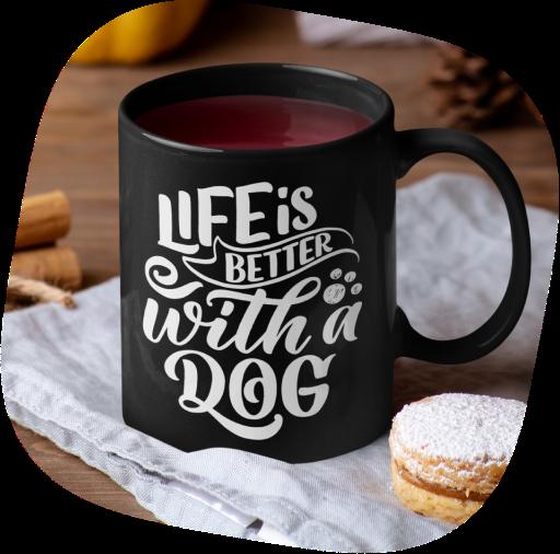 black coffee mug design