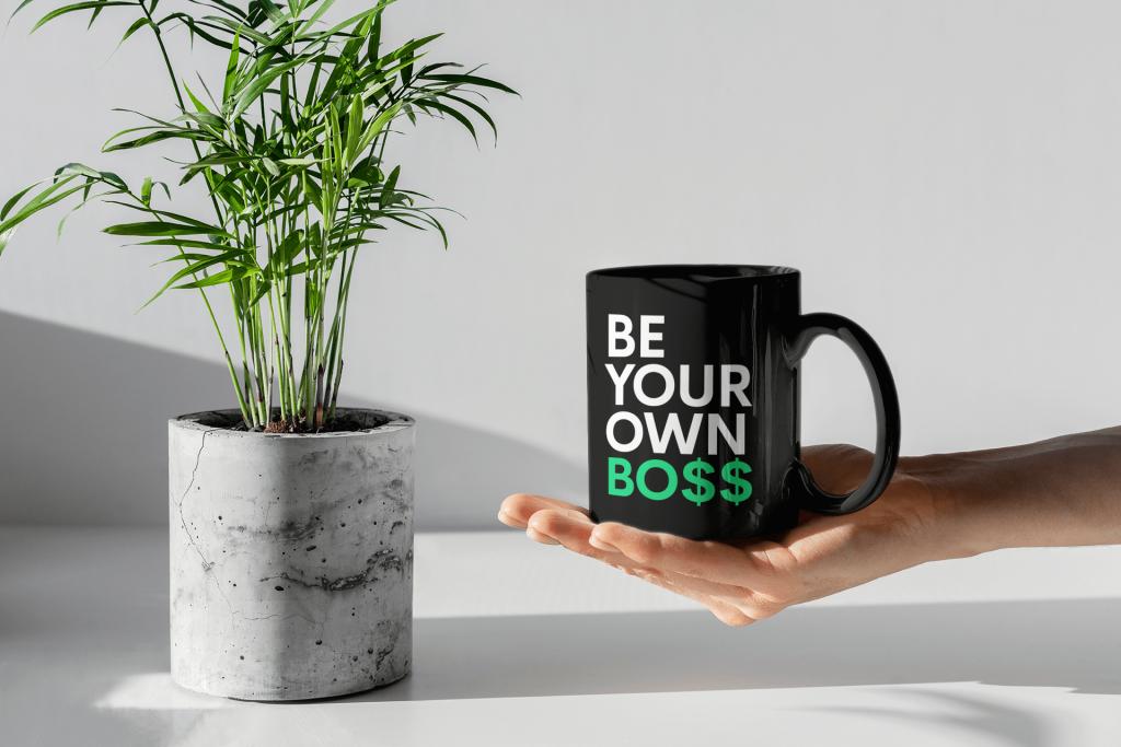 black coffee mugs boss mug