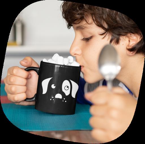 black coffee mugs printing