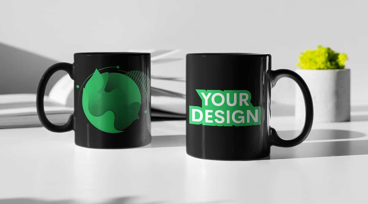 Great ideas for customizing black coffee mugs