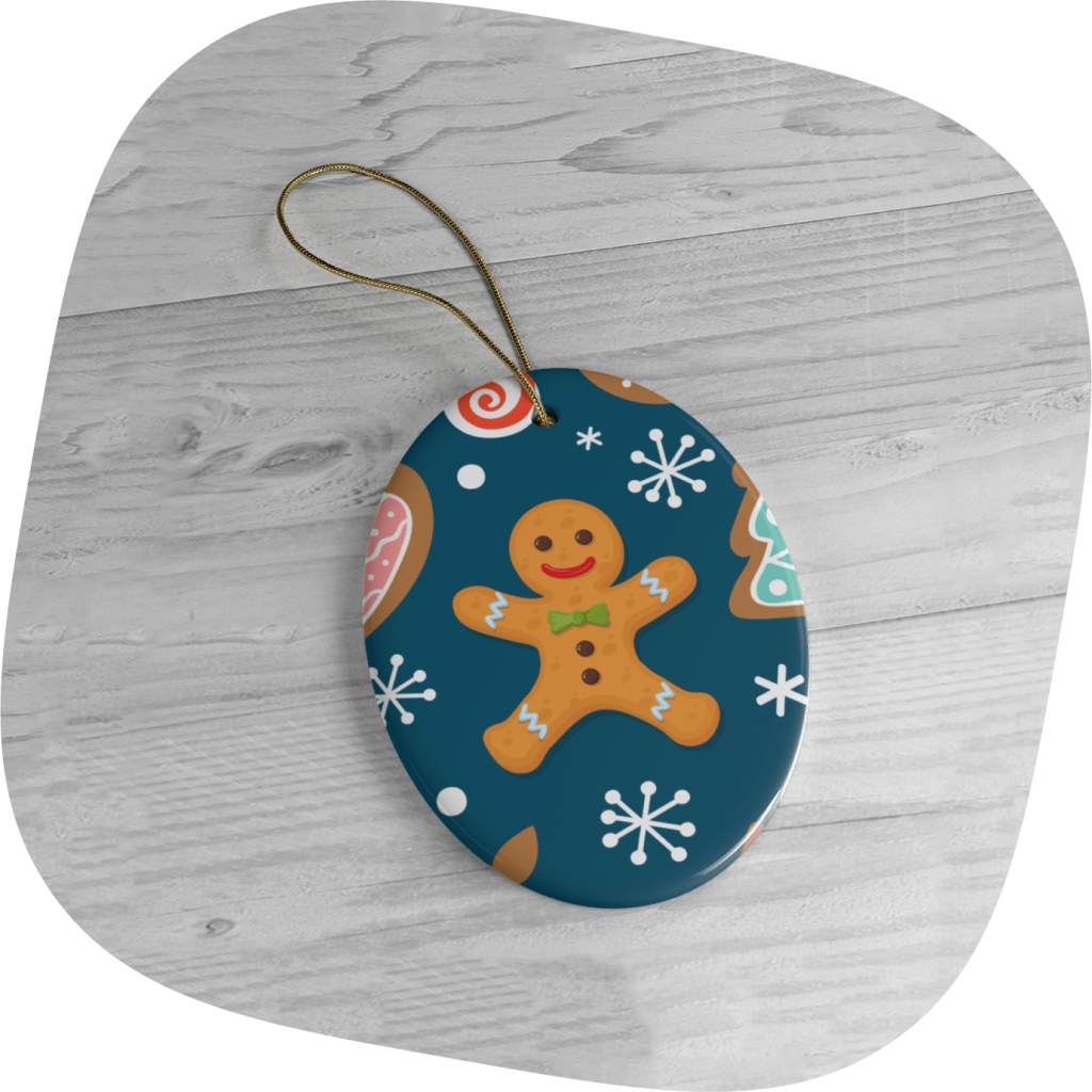 christmas ornaments with gingerbread