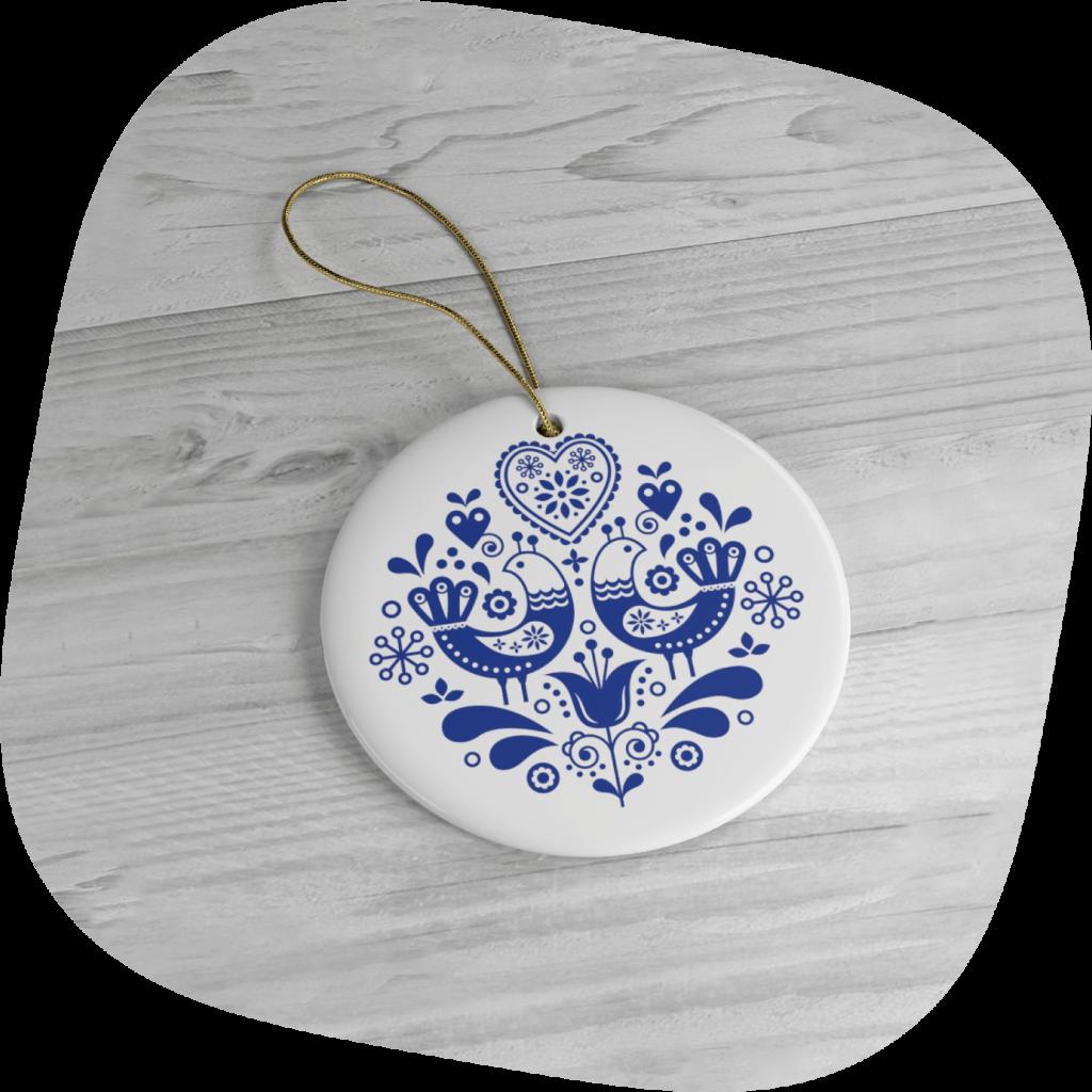 custom folk art Christmas ornaments