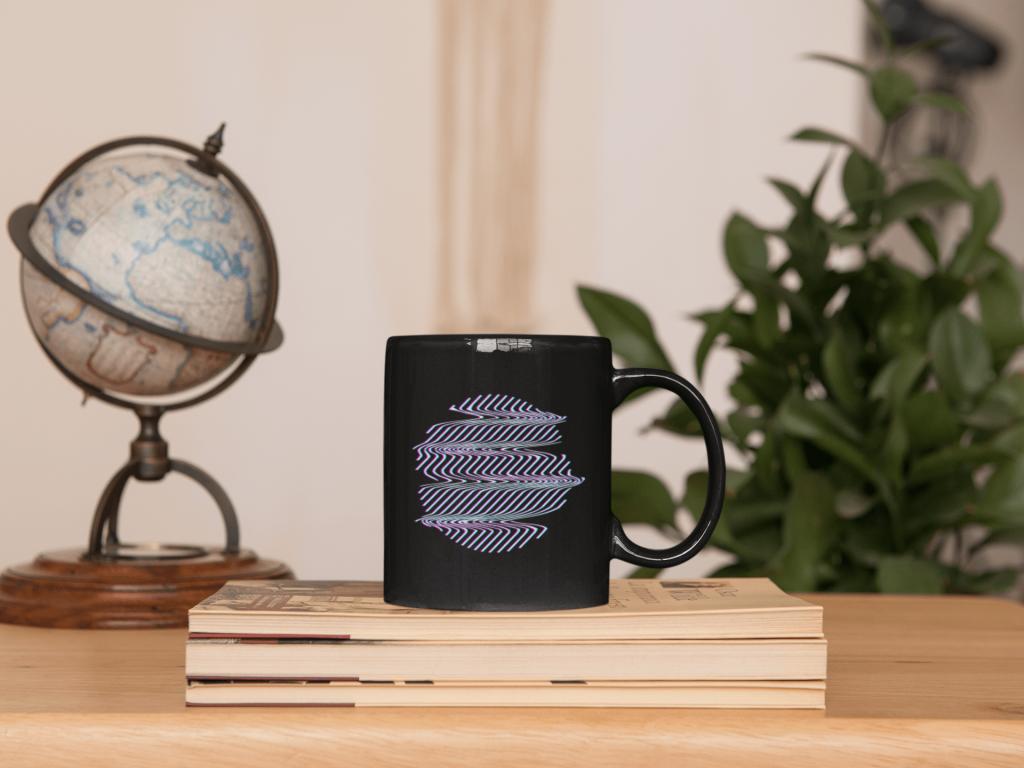 customize black coffee mug
