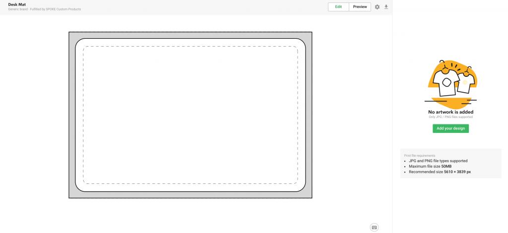 design custom desk mat