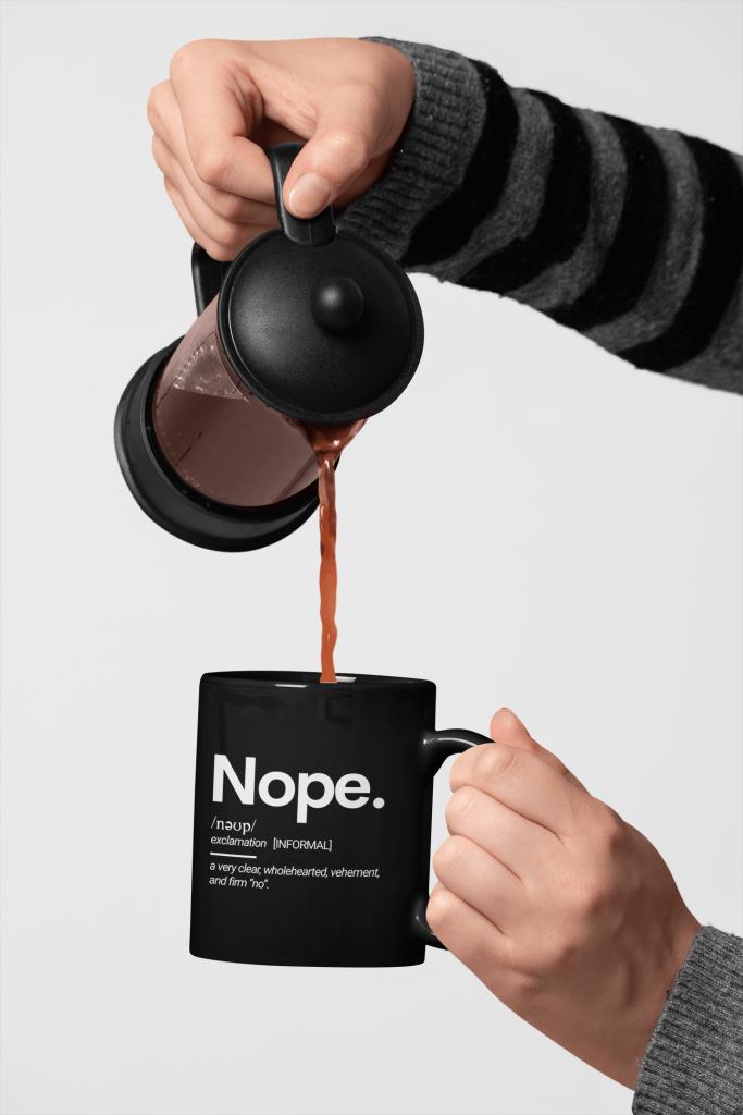funny black coffee mug
