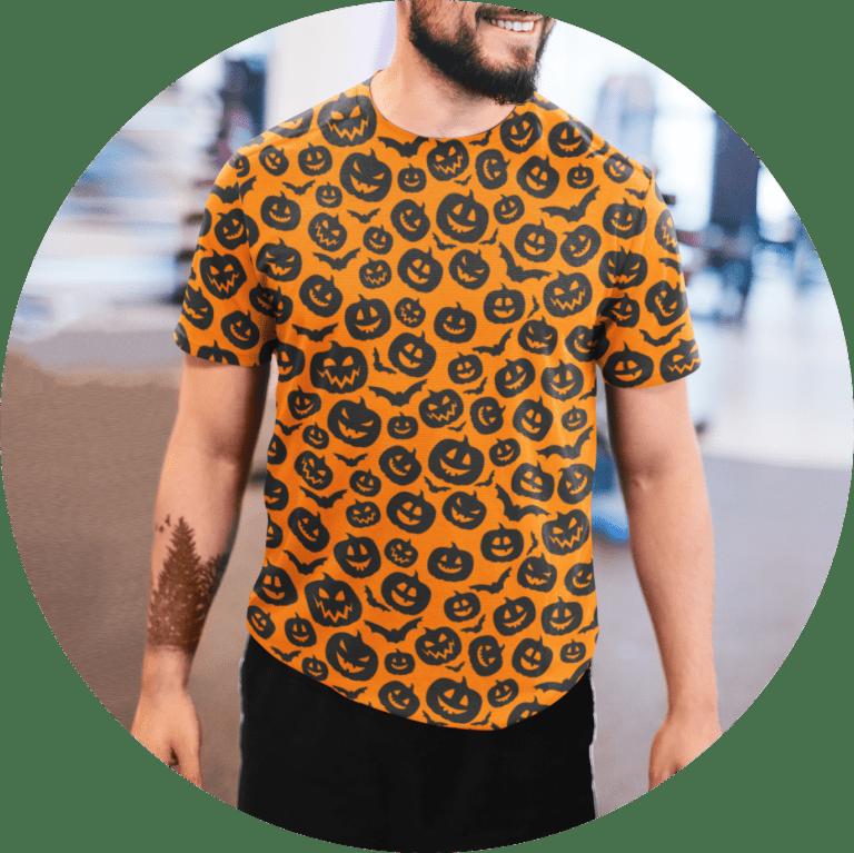 Halloween Shirts With Pumpkin Design