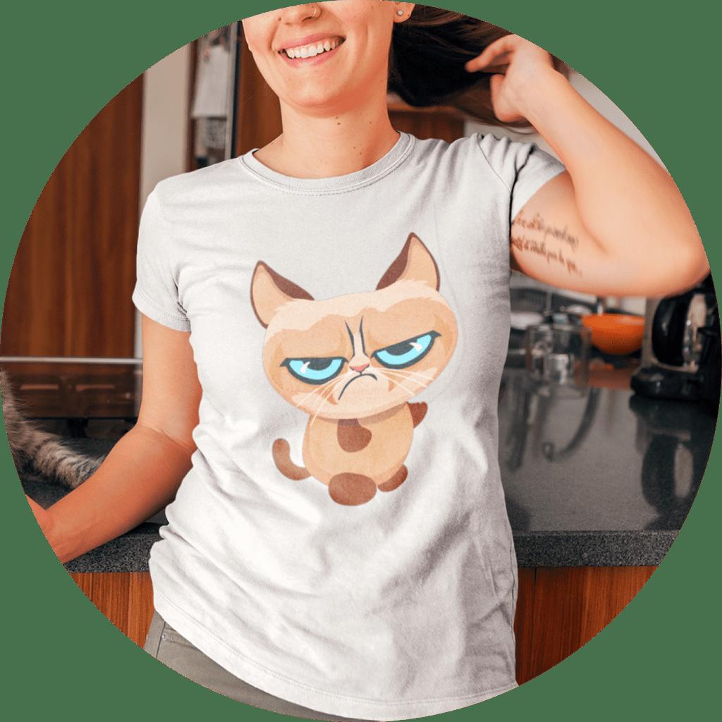Cat T-Shirts Grumpy Cat Design