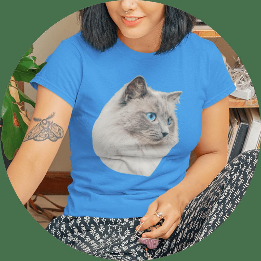 Cat T-Shirts Personalized Cat Portrait Design