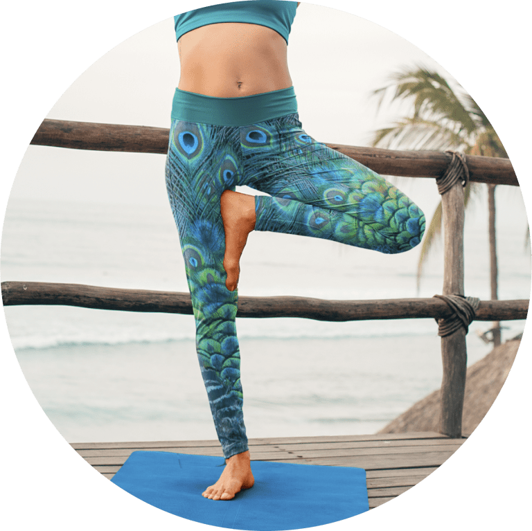 Custom Yoga Pants Peacock Yoga Pants